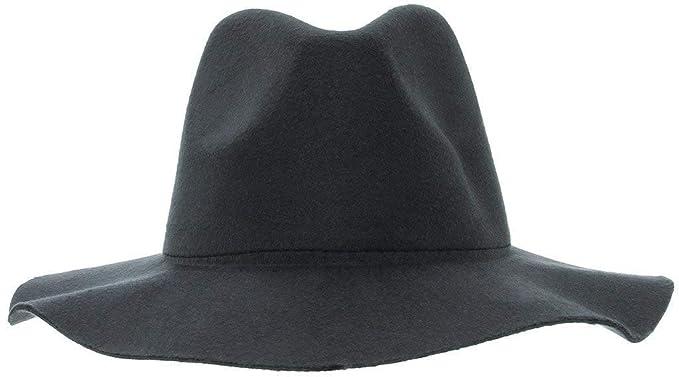 Cappello Di Feltro Casual Donna Da Cappello A Fashionable Tromba Ampio A Tesa  Larga Cappello A Falda Tinta Unita Elegante Cappello Da Sole Per La  Protezione ... e629d75f903e