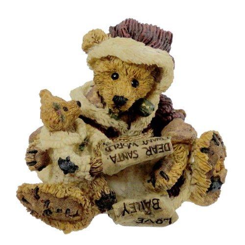 ingle & Bailey With List Christmas Bearstone Santa - Resin 2.75 IN (Boyds Resin Figure)