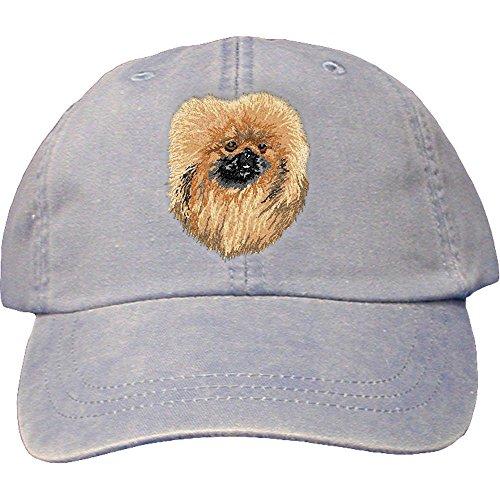 Cherrybrook Dog Breed Embroidered Adams Cotton Twill Caps - Periwinkle - Pekingese