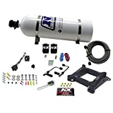 Nitrous Express 60040-15 4150 50-300 HP Gemini Twin Stage 6 Plate System with 15 lbs. Bottle