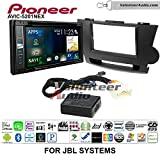 Pioneer AVIC-5201NEX Double Din Radio Install Kit with Navigation Apple Carplay Bluetooth Fits 2008-2013 Toyota Highlander with Amplified System (Black)