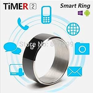 ARBUYSHOP nuevo temporizador inteligente anillo 2 para NFC Android WP teléfonos móviles inteligentes dispositivo portátil anillo mágico multifunción para Samsung NOKIA HTC LG, negro Tamaño 9