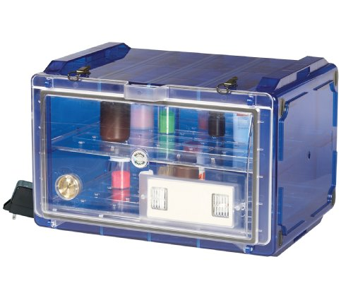 Bel-Art Secador Blue 4.0 Horizontal Auto-Desiccator Cabinet with Clear Door; 120V, 1.9 cu. ft. (F42074-0117)