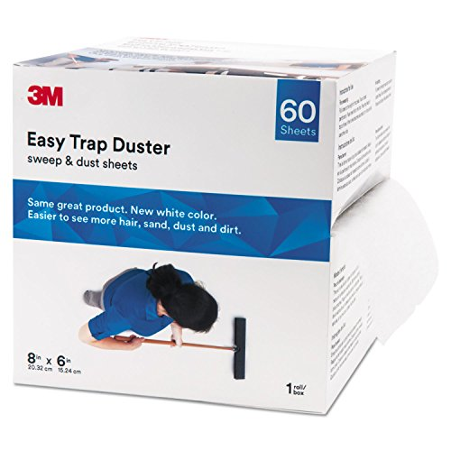 3M 59152W Easy Trap Duster, 8-Inch X 30ft, White, 60 Sheets/Box