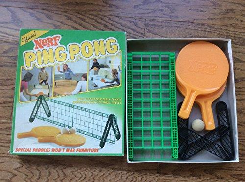 2x NERF PING PONG VINTAGE GAME 1982