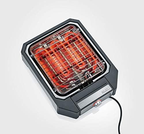 SEVERIN Gril à Viande, Max. 500°C, 2 Réglages de Puissance, Surface du Gril 23 x 25,5 cm, 2300 W, PG 8545, Noir