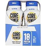 Core Power Vanilla Natural Flavors High Protein Milk Shake 4 x 8fl oz (total 32fl oz)