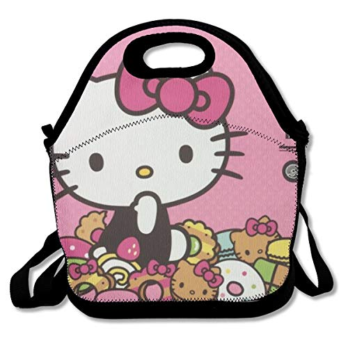 LIUYAN Personalized Lunch Bags Hello Kitty Cafe Tote