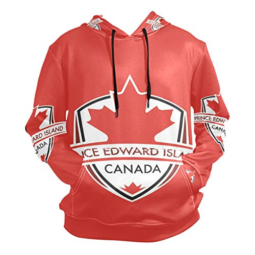 - Anyangquji Men's Prince Edward Island Province Canada Maple Leaf Flag Hooded Hoodies