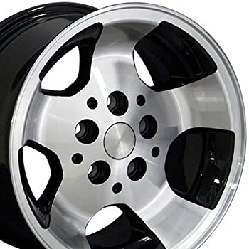 OE Wheels 15 Inch Fits Jeep Cherokee Wrangler Wrangler Style JP08 Gloss Black Machined 15x8 Rim