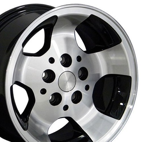 OE Wheels 15 Inch Fits Jeep Cherokee Wrangler Wrangler Style JP08 Gloss Black Machined 15x8 Rim