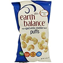 Earth Balance - Vegan Puffs Aged White Cheddar Flavor - 4 oz (pack of 2)