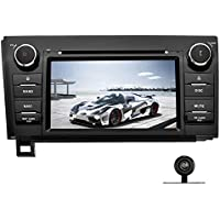 YINUO Double Din 7 Inch Android 7.1.1 Capacitive Touchscreen Car Stereo DVD Player In Dash GPS Navigation for Toyota Tundra,Toyota Sequoia,7 Color Button illumination, with Backup Camera
