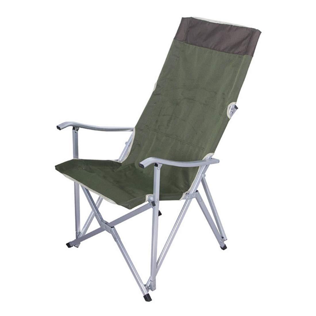 FUBULECY Outdoor Camping Stuhl mit Armlehnen Größe Aluminiumlegierung tragbare Faltbare Stuhl Daecheon Stuhl