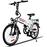 ANCHEER Folding Electric Bike Ebike, 20'' Electric Bicycle with 36V 8Ah Removable Lithium-Ion Battery, 250W Motor and Professional Rear 7 Speed Gear