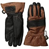 Hestra Mens and Womens Ski Gloves: Guide Leather Winter Gloves With Wool Lining