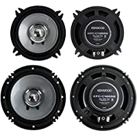 2) Kenwood KFC-C1355S 5.25 250W + 2) KFC-C1655S 6.5 300W Car Speakers