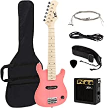 Best Choice Products 30-Inch Kids Pink Electric Guitar with Amp and Much More Guitar Combo Accessory Kit