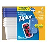 Ziploc Small Rectangle Storage Containers - 5 Count