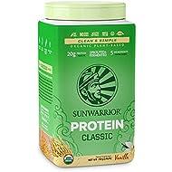 SUNWARRIOR Organic Brown Rice Protein Vanilla, 26.45 Ounce