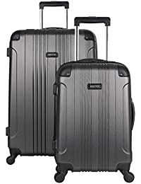 "Out Of Bounds 2-Piece Lightweight Hardside 4-Wheel Spinner Luggage Set: 20"" Carry-On & 28"" Checked Suitcase"