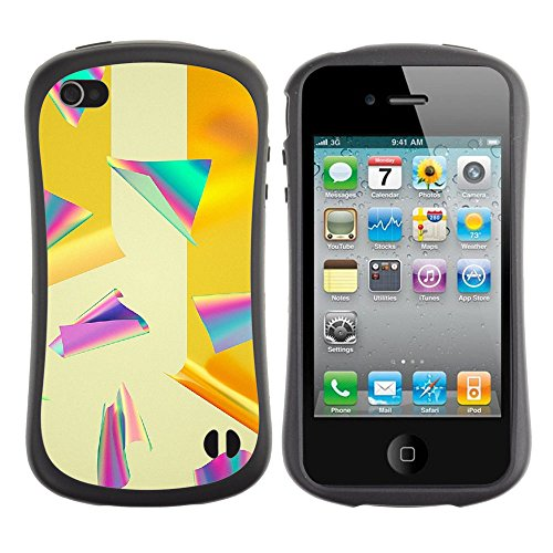Apple Iphone 4 / 4S [Paper At Rainbow Color Pattern]