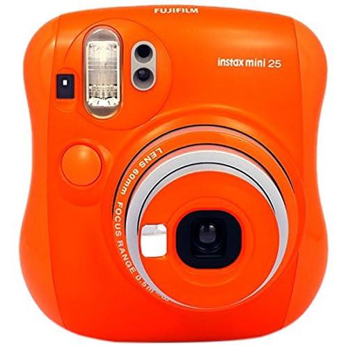 FujiFilm Instax Mini 25Instant Analog Camera (1x Optical Zoom), Orange