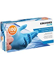 Kingfisher KGVB2 Desechables, guantes, azul, Medium