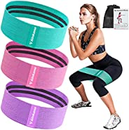 Haquno Resistance Bands, Non-Slip Workout Bands for Legs and Butt Exercise Bands Fitness, Resistance Level Wor