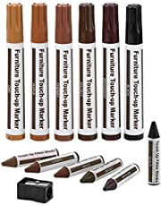 Furniture Repair Kit Wood Markers Wax Sticks, For Stains, Scratches, Wood Floors, Tables, Desks, Carpenters, Bedposts, Touch Ups, And Cover Ups
