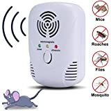Ultrasonic Pest Repellent , Electronic Insect Repellent,Repellent for Bugs,Cockroach, Mosquitos, Fleas,Ants, Spiders, Mouse,Mice and More (White)