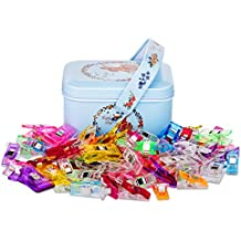 Quilting Clips and Wonder Clips,Sewing Clips Pack of 100,80 Samll +20 Middle Quilt Clips Perfect for Sew Binding,Crafts,Paper Work and Hanging Little Things Etc