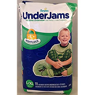 Pampers UnderJams Bedtime Underwear Boys, Size L/XL, 11 ct