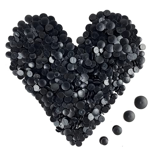 MUXGOA 400 Pcs Black Buckle Plastic Button Accessories,Shoe Buttons for Kids Shoe Charm Buckles for Charms Jewelry DIY Ornaments
