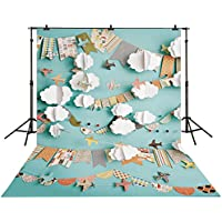 Allenjoy 5x7ft Polyester Photography backdrops Paper plane children newborn background for photo studio