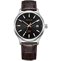 NEYMAR Luxury Men's Wrist Watch - Top Grain Italian Leather Watch Band - 40mm Analog Watch - NH35 Automatic(Holiday Promotion)