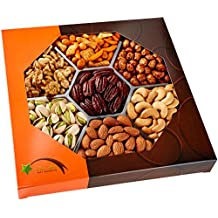 Five Star Gift Baskets, Holiday Nuts Gift Basket - Delightful Gourmet Food Gifts Prime Delivery -Birthday, Christmas, Mothers & Fathers Day Fruit Gift Box Assortment, Men, Women, Families & Corporate