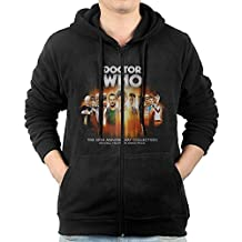 Men Doctor Who 50th Anniversary Sweatshirts Warm Knitted Casual Zip-Up Hoodies