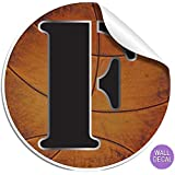 """Wall Letters """"F"""" Basketball Letter Stickers Alphabet Initial Vinyl Sticker Kid Decals Children Room Decor Baby Nursery Boys Bedroom Decorations Child Names Personalized Decal Graphic Sports Balls Girl"""