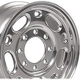 OE Wheels LLC 16 Inch Fits Chevy 2500 3500 GMC 2500 3500 8x165.1 Suburban Style CV82 Polished 16x6.5 Rim Hollander 5079