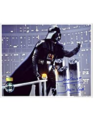 David Prowse Autographed Star Wars 8x10 Darth Vader On Gantry Photo