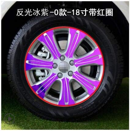 Purple Mixed colors 18 Inch Rims Wheel Stickers for Great Wall Haval H8 BA038A  (color Name  Powder)