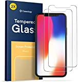 iPhone X Screen Protector, Caseology [Tempered Glass] Ultra Slim HD Clear 9H Anti-Scratch Shatterproof [2 Pack] for Apple iPhone X (2017) Only
