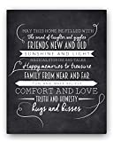 """May This Home"" Chalkboard Typography Wall Sign by Ocean Drop Designs, The Perfect New Home or Housewarming Gift"