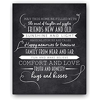 Our home poem print 8x10 beautiful for Minimalist gifts for housewarming