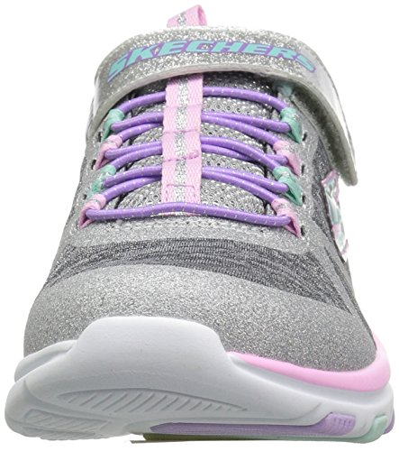 Skechers Kids Girls' Trainer LITE- Jazzy Jumper Sneaker, GYMT, 13 Medium US Little by Skechers (Image #4)
