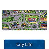 Learning Carpets City Life Play Carpet, 79' by 36' - City-Themed Play Carpet Develops Imagination - Skid-Proof Gel Backing - Durable - Self-Contained Play Carpet for Hours of Fun - Indoor/Outdoor Use
