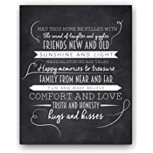 """""""May This Home"""" Chalkboard Typography Wall Sign by Ocean Drop Designs, The Perfect New Home or Housewarming Gift"""
