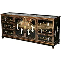 Black Lacquer Wooden Dresser Model S001-C BK