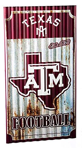 (Team Sports America Texas A&M Aggies Corrugated Metal Wall Art)
